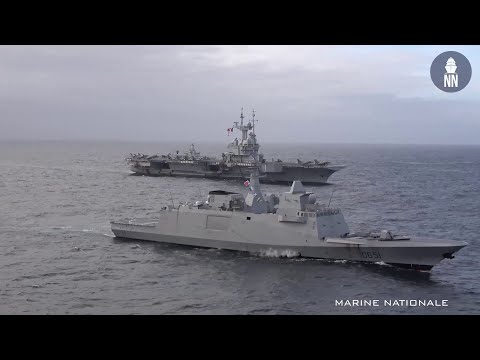French Navy Frigate Normandie Fires Aster 30 Long Range Surface to Air Missile