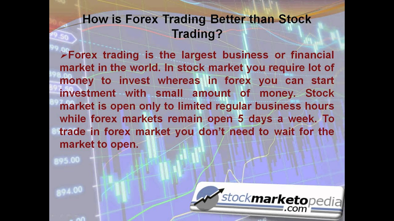 Forex vs. Stocks (Which is Better in ?) - Investing Daily