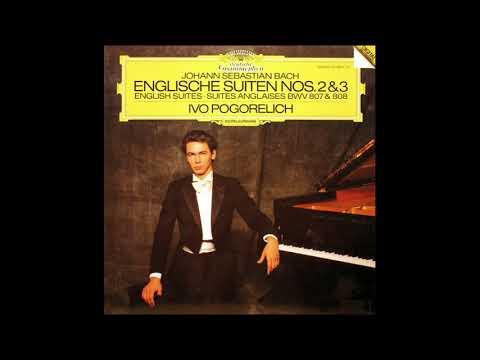 JS Bach English Suites No. 2 & 3 / Ivo POGORELICH (1986 Vinyl)