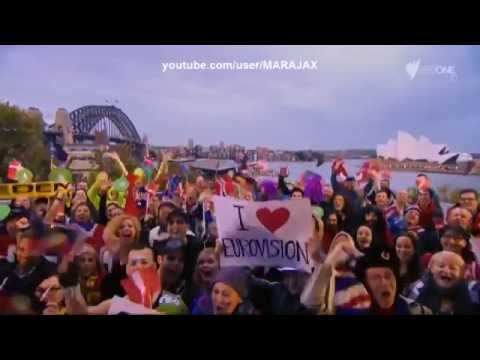 Eurovision 2014 Jessica Mauboy Sea Of Flags