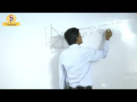 Maths by S P  Pandey Sir Geometry Right angle triangle   Part  I