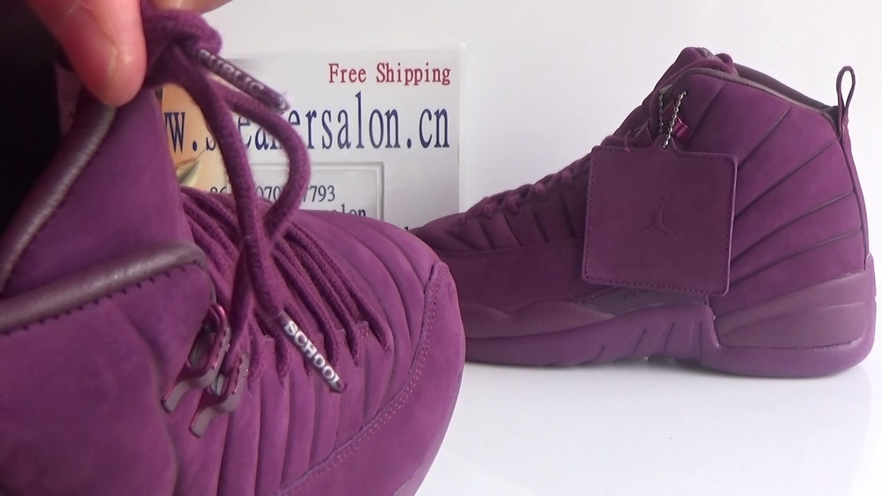 "cfcfcc688e6b Authentic AJ12 PSNY x Air Jordan 12 ""Burgundy"" Review from  www.sneakersalon.cn"