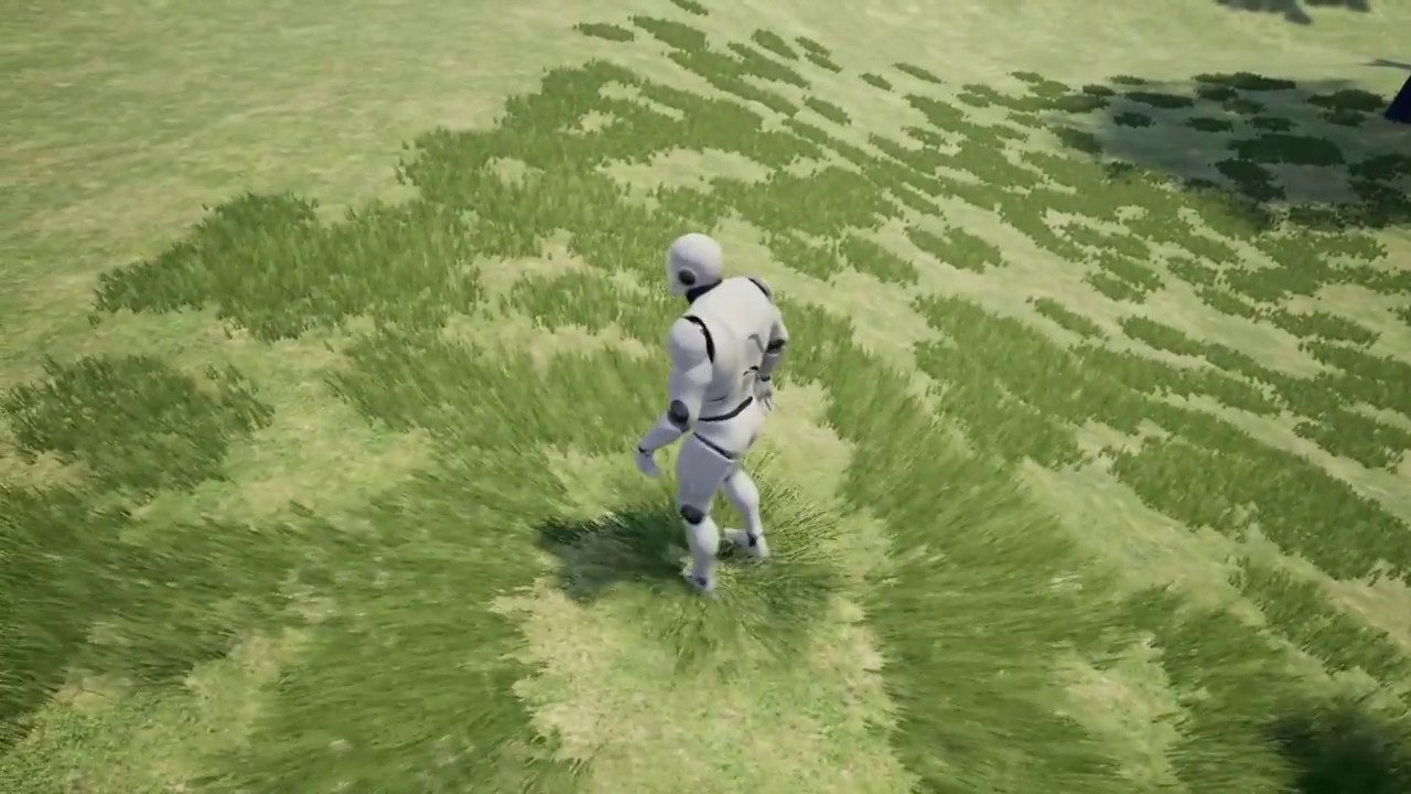 Breath of the Wild like interacitve grass in Unreal Engine || WIP