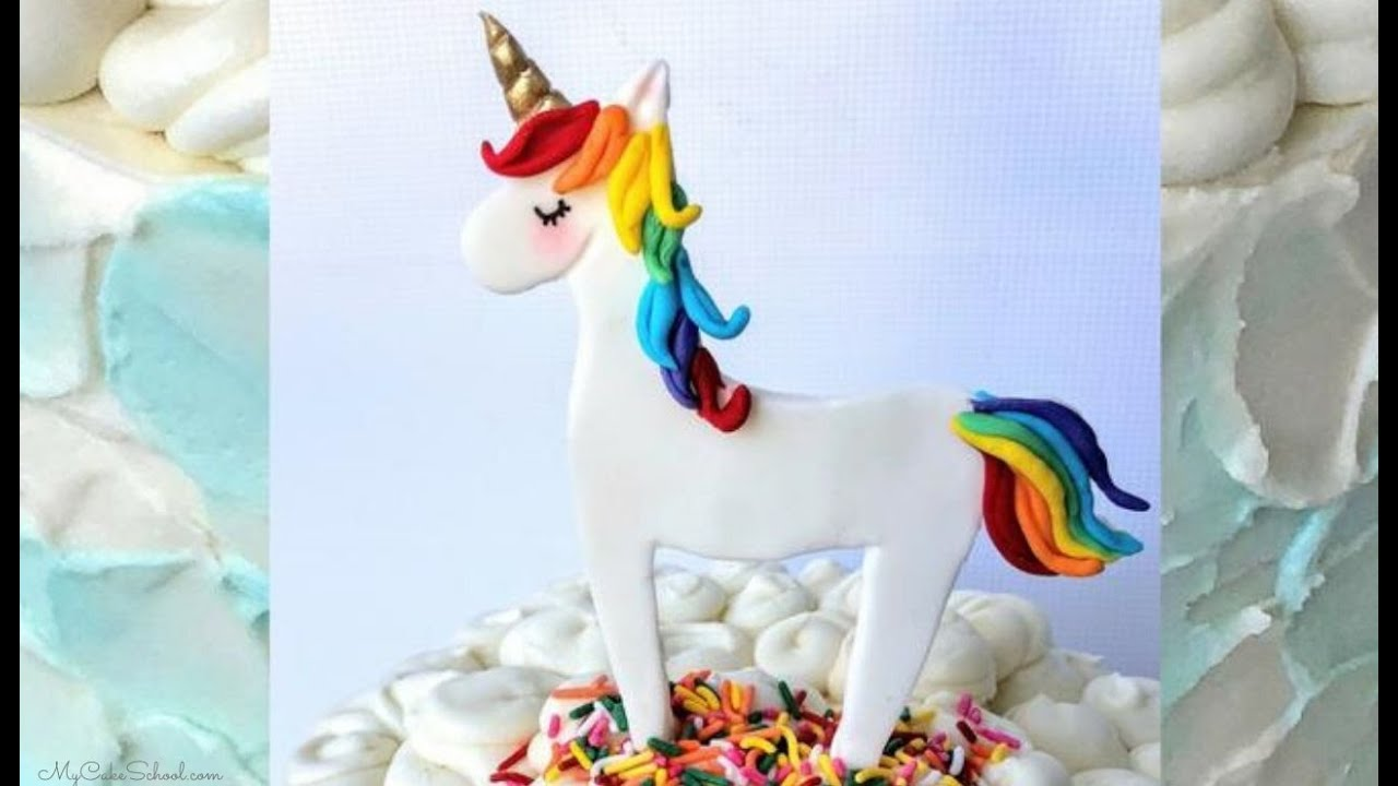 How to make a unicorn cake topper easy