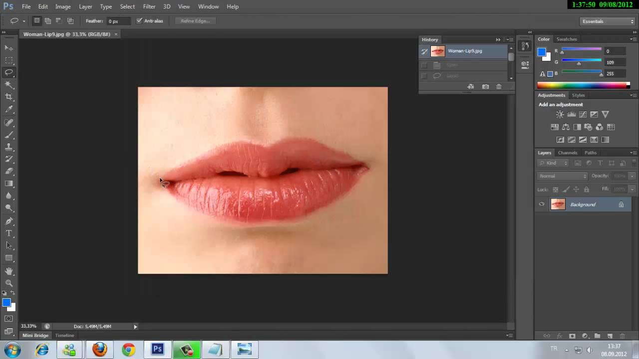 Photoshop Dudak Boyama Websultan Net Youtube