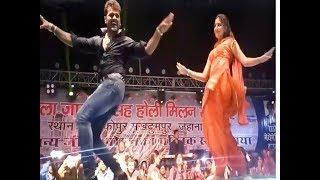 Khesari Lal & Sapna Choudhary on song (Bhatar Aihe Holi Ke Baad) 1st live Stage Show 2019 in Bihar