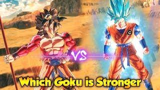 Which Goku is Stronger? Xeno Goku vs Blue Goku! - Dragon Ball Xenoverse 2