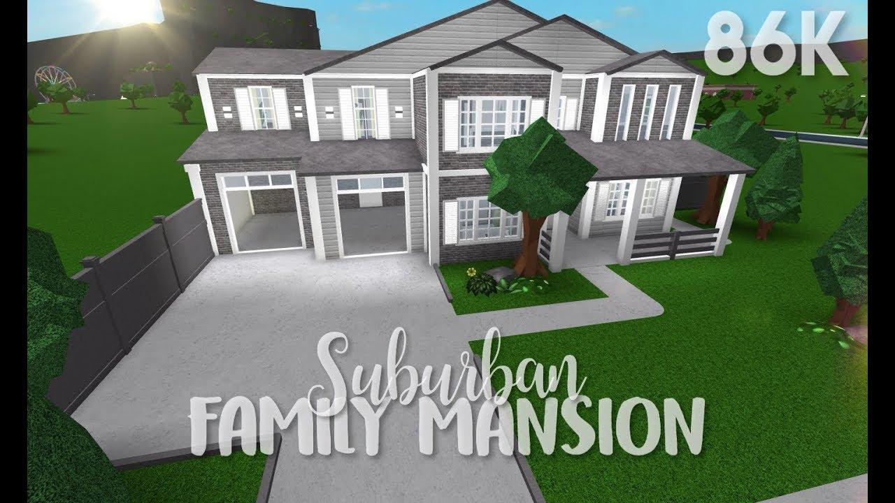 Bloxburg: Suburban Family Mansion + Bloxburg