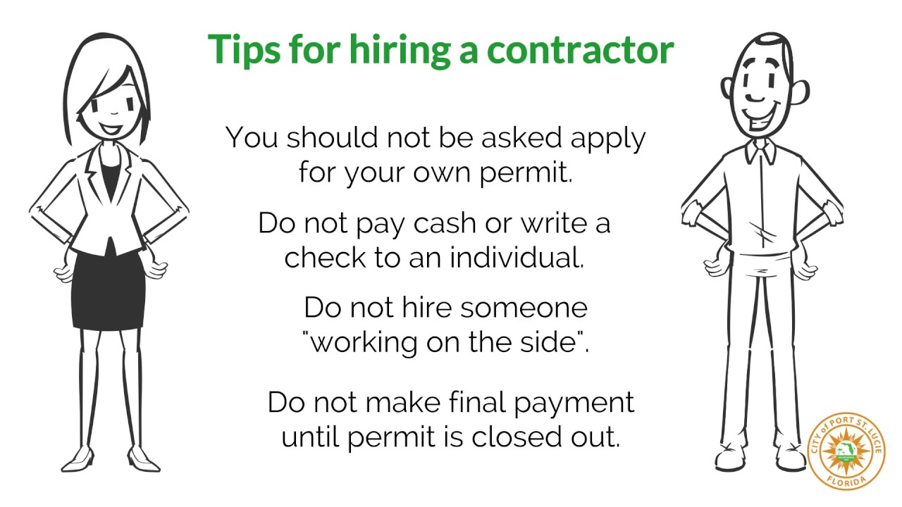Contractor Licensing | Port St  Lucie
