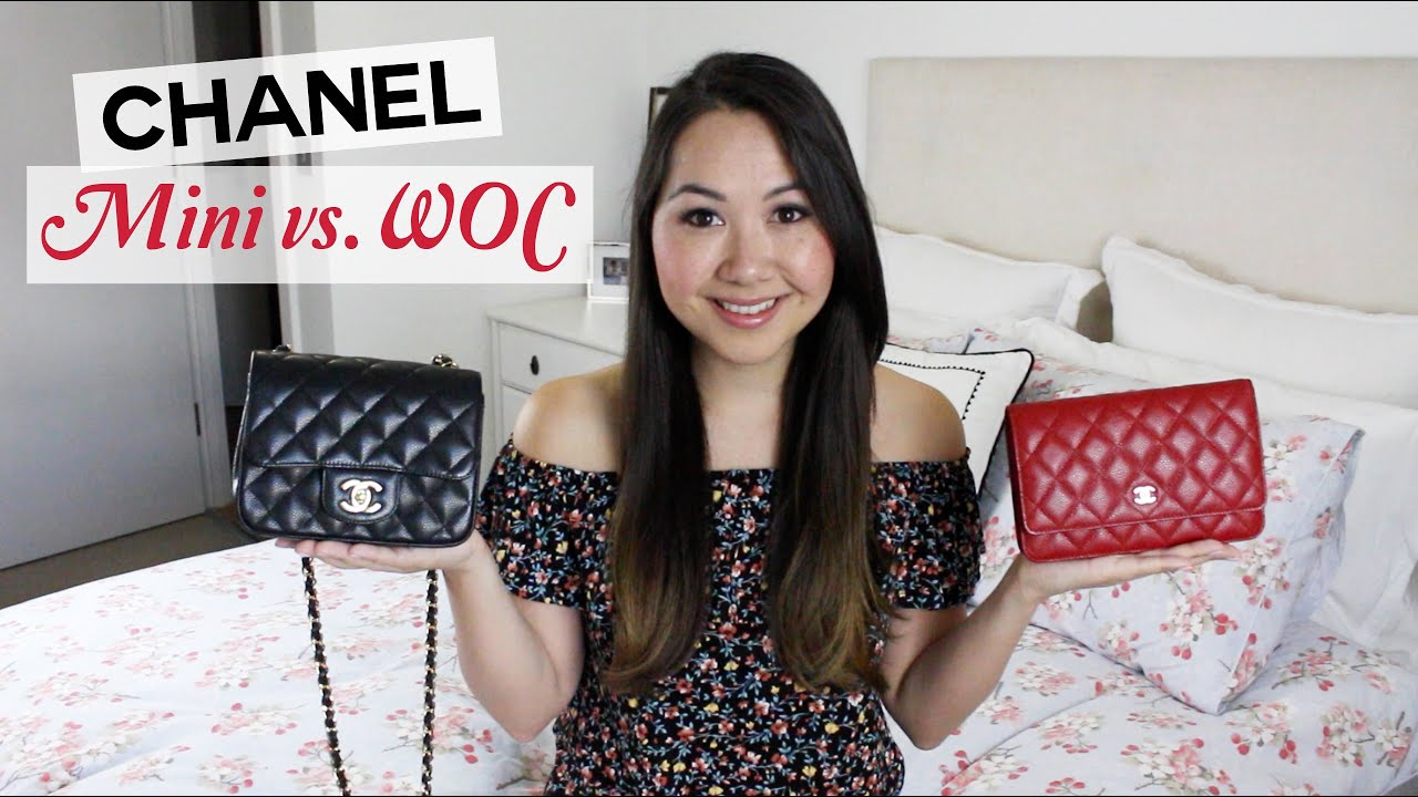 7166a6f9362b Chanel Square Mini and WOC Comparison and Review - YouTube
