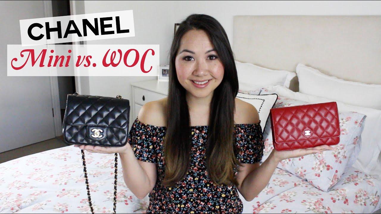 86661e90a595 Chanel Square Mini and WOC Comparison and Review - YouTube