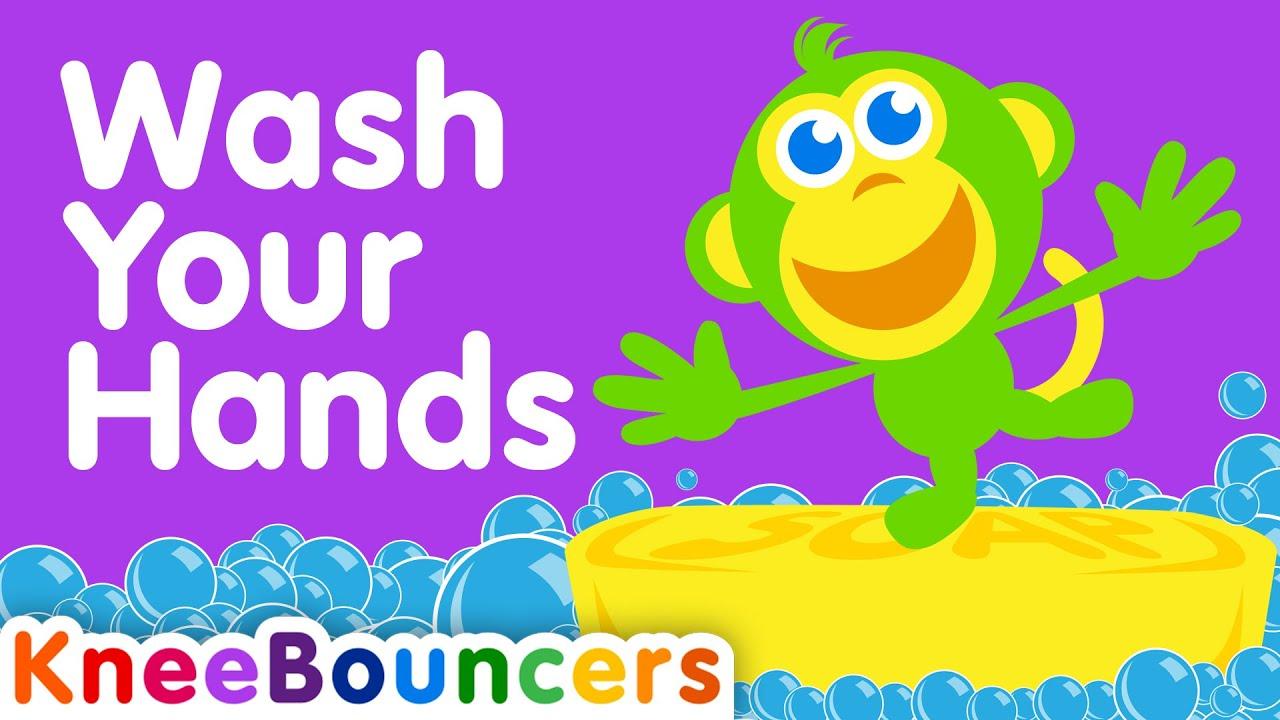 Wash Your Hands  |  Toddler Songs  |  Nursery Rhymes  |  KneeBouncers