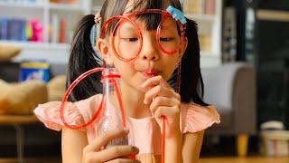 Cách làm kính ống hút dễ thương