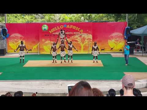 Hello Africa by Acrobatic Kenya Show at Khaodin