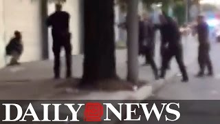 Multiple videos capture fatal San Francisco shooting by cops(Shocking footage showed San Francisco cops surrounding a man before opening fire and killing him. The incident was captured on at least three different ..., 2015-12-04T20:42:20.000Z)