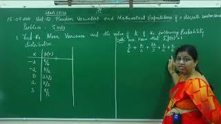 I PUC/ STATISTICS/ RANDOM VARIABLES AND MATHEMATICAL EXPECTATIONS-05