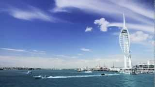 Spinnaker Tower Timelapse - Shot at Spice Island, Portsmouth.