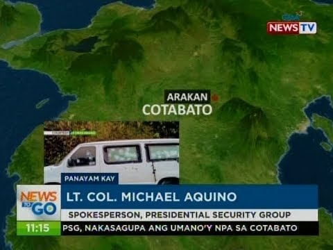 NTG: Panayam kay Lt. Col. Michael Aquino, spokesperson, presidential security group