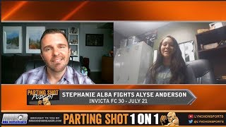 "Stephanie Alba looks to bring out ""The Cyclone"" against Alyse Anderson Jul. 21"
