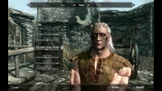 Skyrim. How to create geralt of rivia. Как Ведьмака в Скайриме сделать.