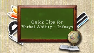 Quick Tips for Verbal Ability - Infosys