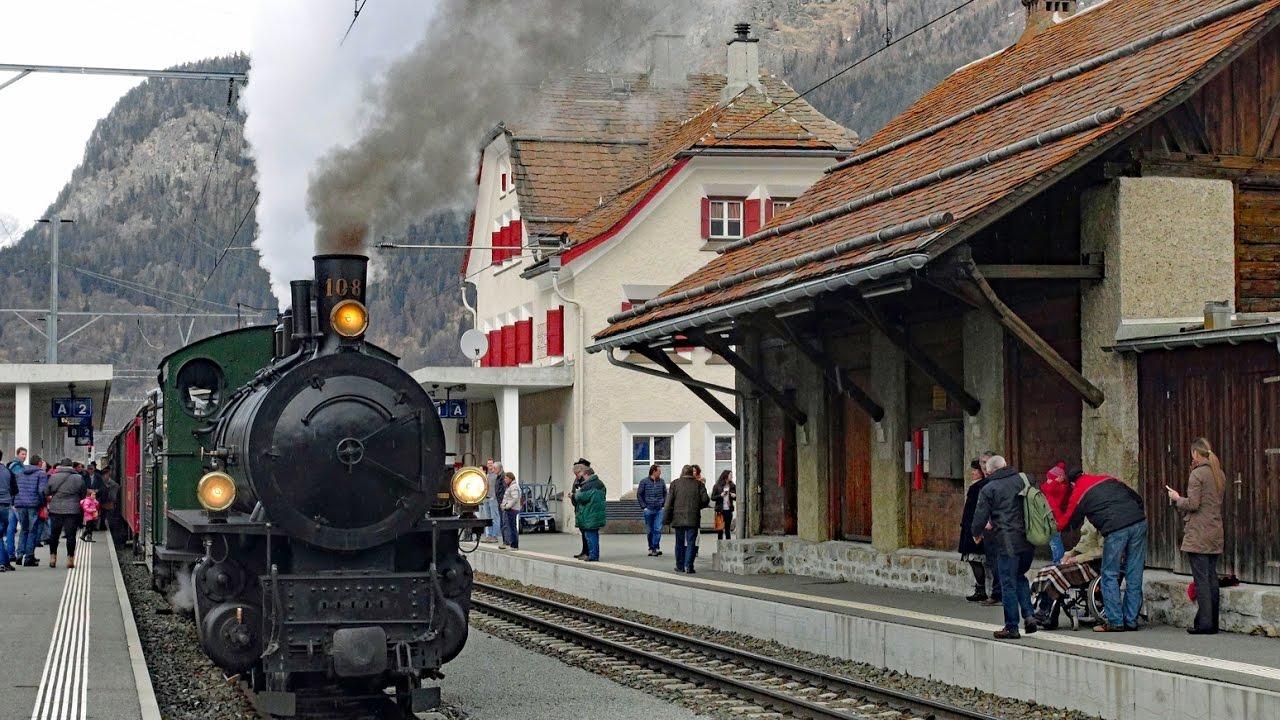 Rhb Winterdampf Part  From La Punt To Zernez