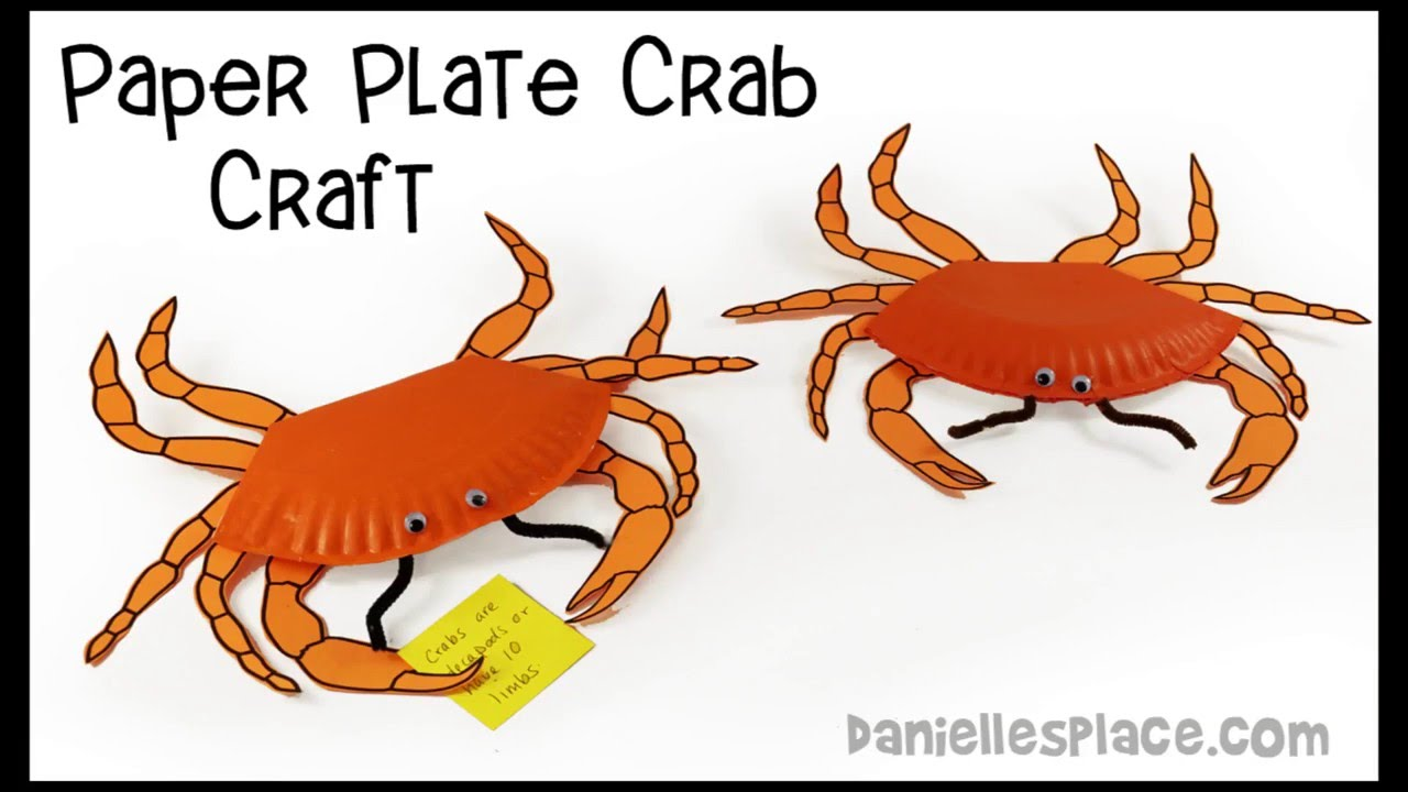 sc 1 st  YouTube & Crab Paper Plate Crafts and Learning Activities for Kids - YouTube