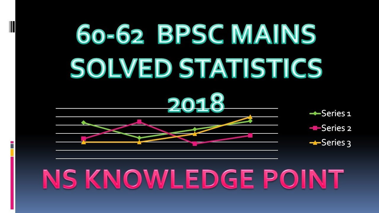 60-62 Mains Statistics solution NS Bpsc mains statistics question 12 