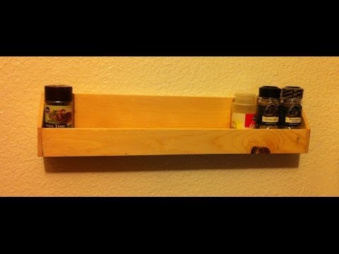 Home made Spice Rack - Great week-end project