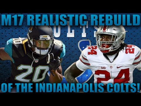 Madden 17 Franchise | Realistic Rebuilding of The Indianapolis Colts! 2017 Nfl Draft Class!