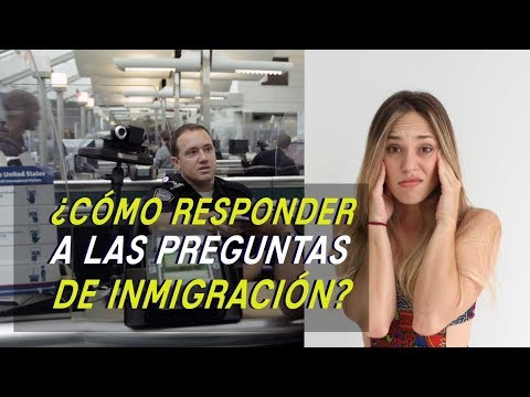 How to answer in Spanish inmigration office questions when you travel?