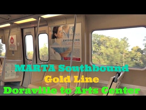 Riding MARTA Gold Line Southbound from Doraville to Arts Center