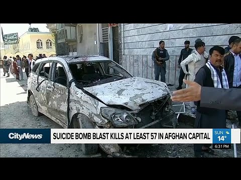 Suicide bomber kills 57 in Afghan capital