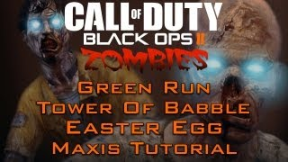 "Black Ops 2 Zombies - ""tranzit"" Easter Egg Maxis Tutorial"