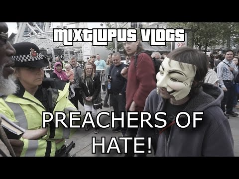 Manchester Hate Preachers Vs The Police - Anti-Austerity Protest - MixtLupus VLogs