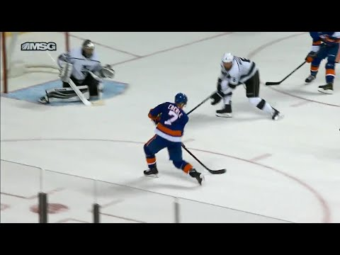Islanders' Eberle scores top shelf in overtime against Kings