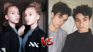Lucas And Marcus Vs Lisa and Lena | dobretwins Vs lisaandlena Battle Musers