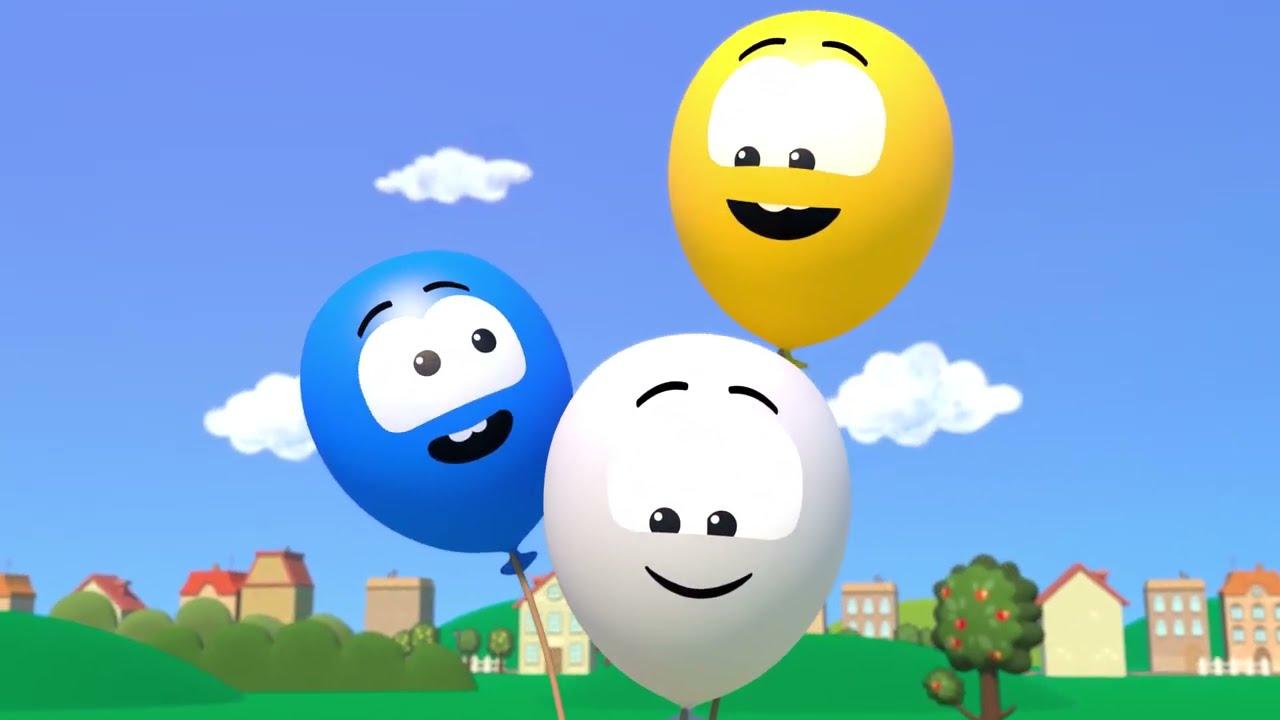 Пять шариков - Котёнок Котэ - Песенки для детей про цвета и счёт от 1 до 5