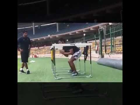 Suresh Raina's Training in Bangalore Stadium