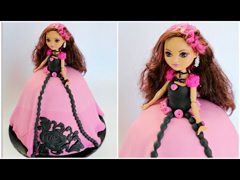 "Ever After High Doll Cake ""Briar Beauty"" - CAKE STYLE"