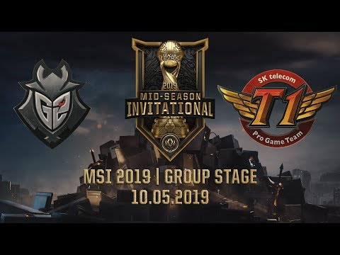 G2 vs SKT [MSI 2019][10.05.2019][Group Stage]