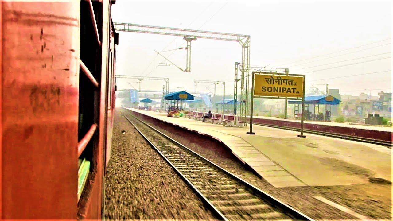 High speed Sonipat skip amidst heavy air pollution - Indian Railways Superfast Train
