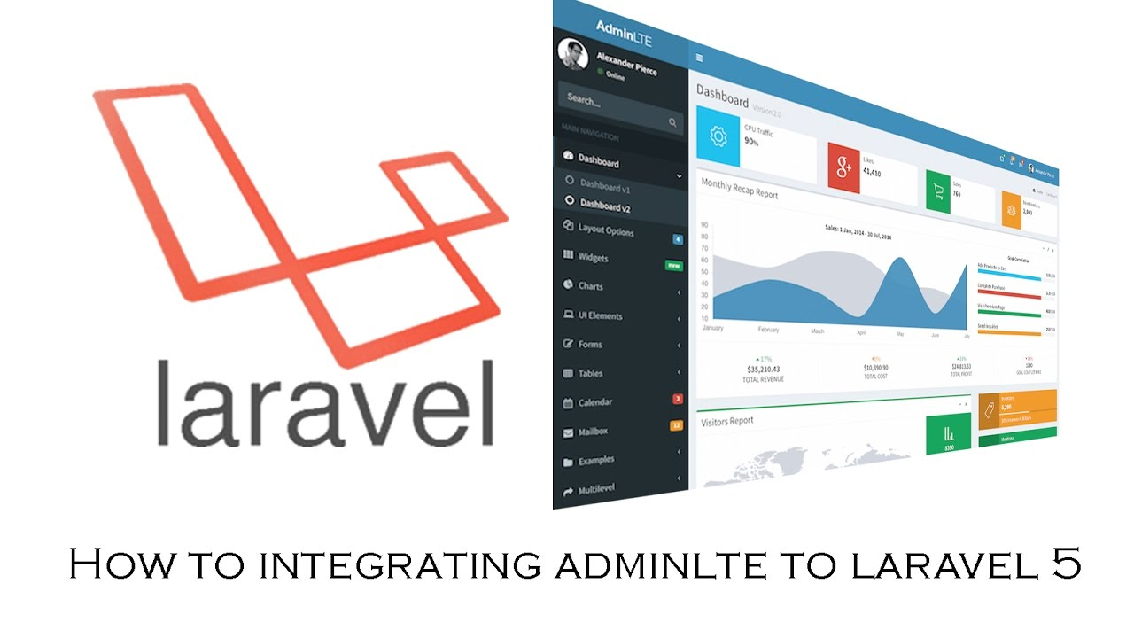 How to Integrating AdminLTE Template to Laravel 5