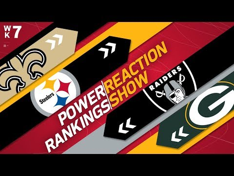 Power Rankings Week 7 Reaction Show: How Far Will Packers Drop Without Aaron Rodgers?  | NFL Network