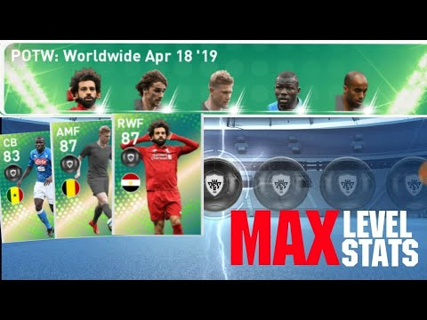 Max Stats Of Player of the Week: April 18 '19 | PES 2019