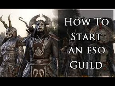 ESO   How to create a guild!