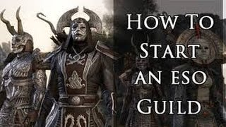 ESO | How to create a guild!