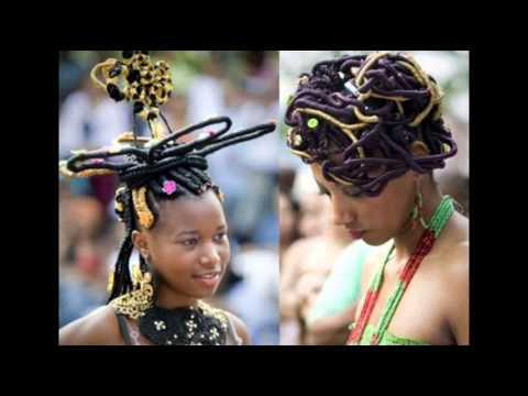 Красивые и необычные африканские прически и прически из африканских косичек