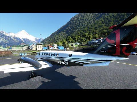 Flight Simulator 2020 - Lukla - Dangerous Landing and Scary Takeoff - King Air |