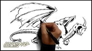 Curso de Desenho: Como Desenhar um Dragão (How to Draw a Dragon)